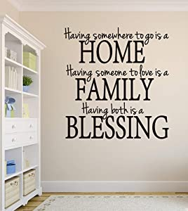 Wall Decals Having Somewhere to Go is a Home Family Blessing Wall Decal Quote Home Decor Art Quote Decals Wall Art Stickers Decal