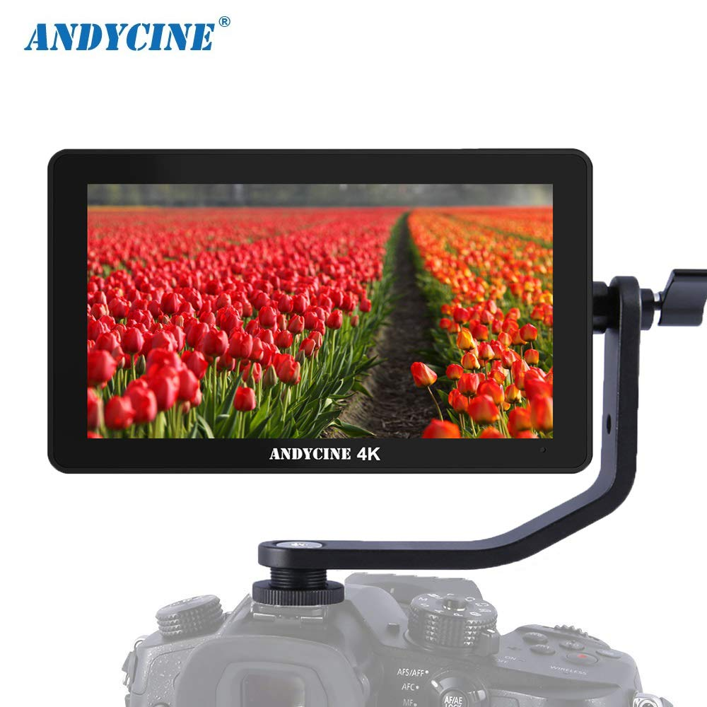 Andycine A6 Plus Touchscreen Camera Field Monitor,5.5 Inch IPS Full HD Display HDMI 4K in/Output LED Backlight with 3D LUT Support for Sony L-Series and Canon LP-E6
