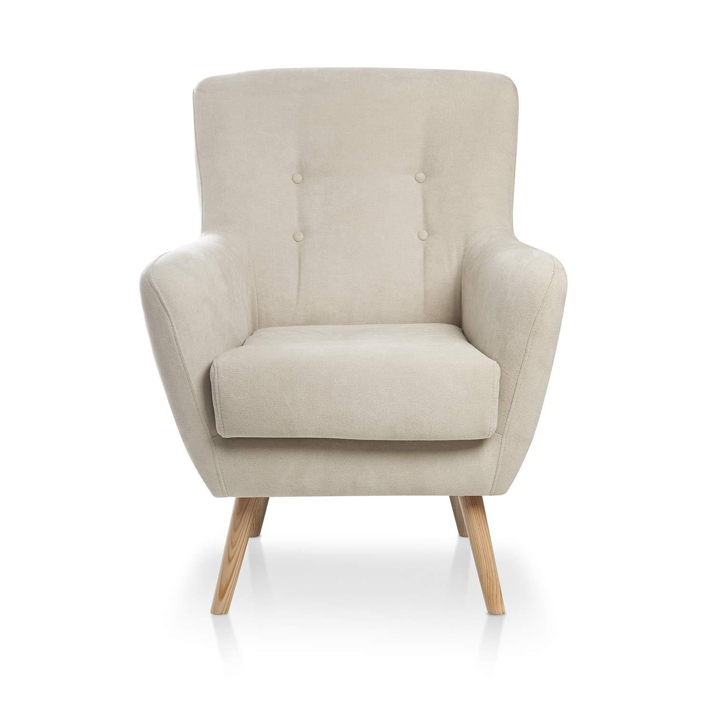 SERMAHOME Sillón Relax Repaldo y Reposapiés reclinables Chaplin. Tapizado Tela jarama Gris Marengo. Medidas: 77 cm Ancho x 100 cm Alto x 88 cm ...