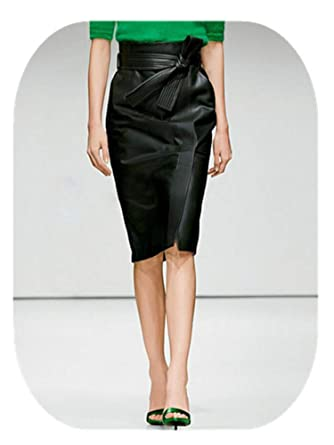 360aef0d8 Adam Woolf PU Leather Skirt Women Plus Size Autumn Winter Sexy High Waist  Faux Leather Skirts at Amazon Women's Clothing store: