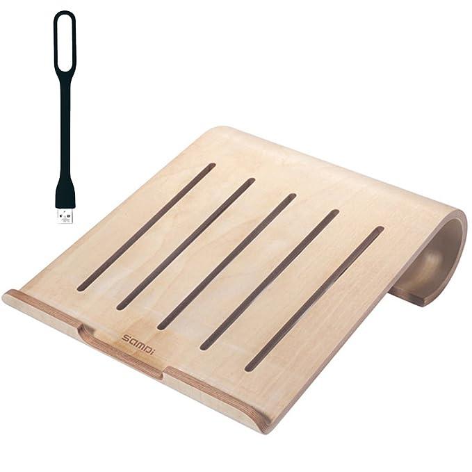 Arredamento First2savvv MT-BJPB-01UFS01 Stazione Premium Quality legna di raffreddamento Laptop Stand per Apple Macbook e tutti i notebook usb mini ventilatore Studio