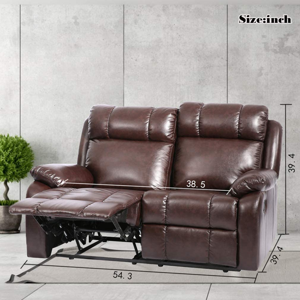 and Sofa for Living Room Home Furniture Love Seat Recliner Sofa Loveseat Leather Sofa Recliner Couch Manual Reclining Sofa Recliner Chair