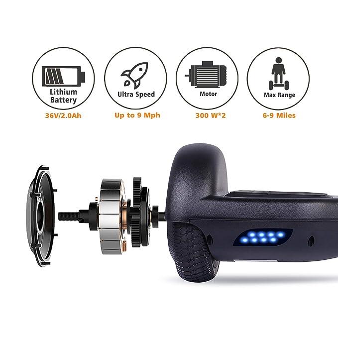 Amazon.com: SENGYUE Hoverboard UL2272 Certificado dos ruedas ...