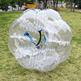 Elever 1.5M Inflatable Transparency Human Knocker Body Soccer Bumper Zorb Ball for Adults and Child(US STOCK)