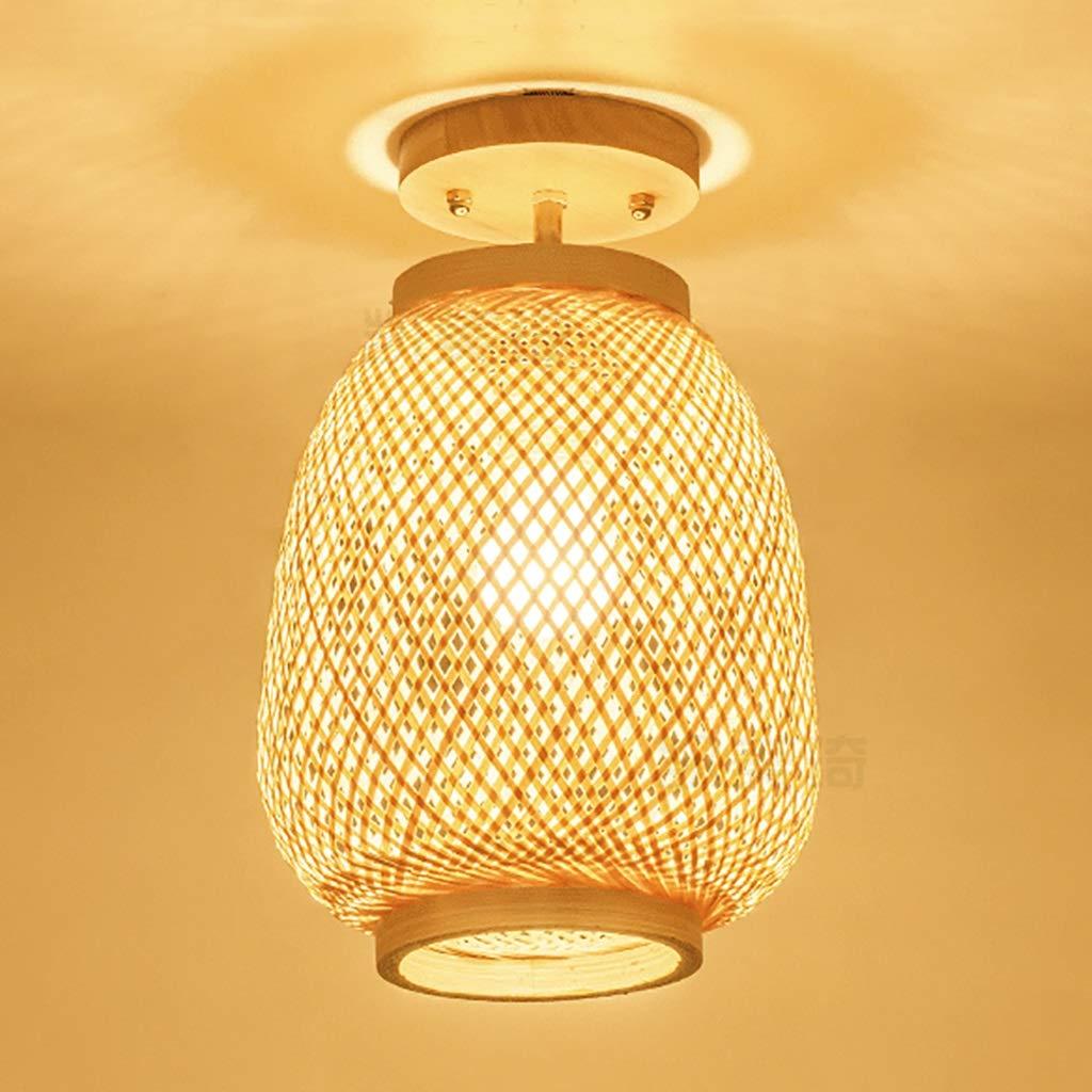 INTASDD Deckenleuchte Retro Bambus japanischen Stil Deckenleuchten Europäischen Korridor Lichter Schlafzimmer einzigen Kopf Lampe Beleuchtung