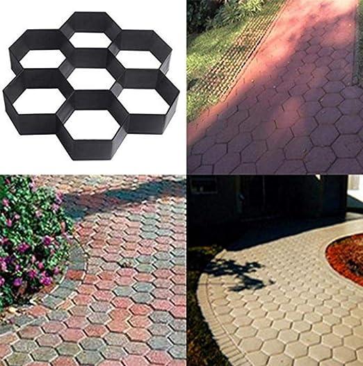 AA-SS-Garden Paving Mould Molde de pavimentación de jardín Construcción Molde de pavimentación Adoquinado Imitación Piedra Color Piso Molde de azulejo de Piso Camino de jardín Molde: Amazon.es: Hogar