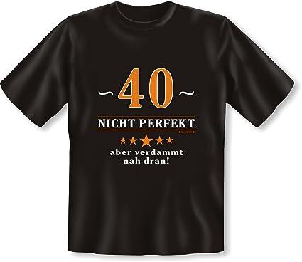 Lustige Spruche Fun Tshirt 40 Jahre Nicht Perfekt Aber Verdammt