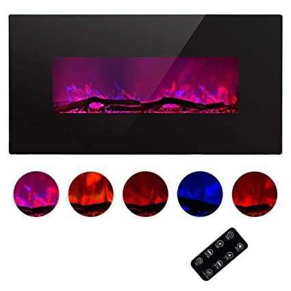 Amazoncom Tagi 42 Glass Electric Fireplace Heater With 5