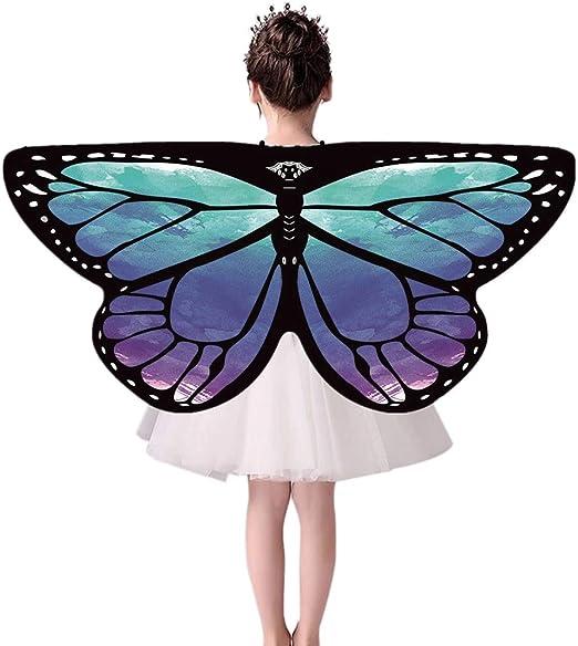 ChYoung Disfraz de alas de Mariposa para niñas niños, niños Hada ...
