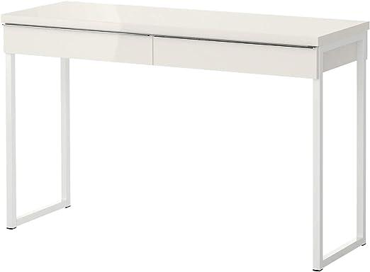 IKEA bestå burs Escritorio Oficina, Brillante Blanco 120 x 40 cm ...