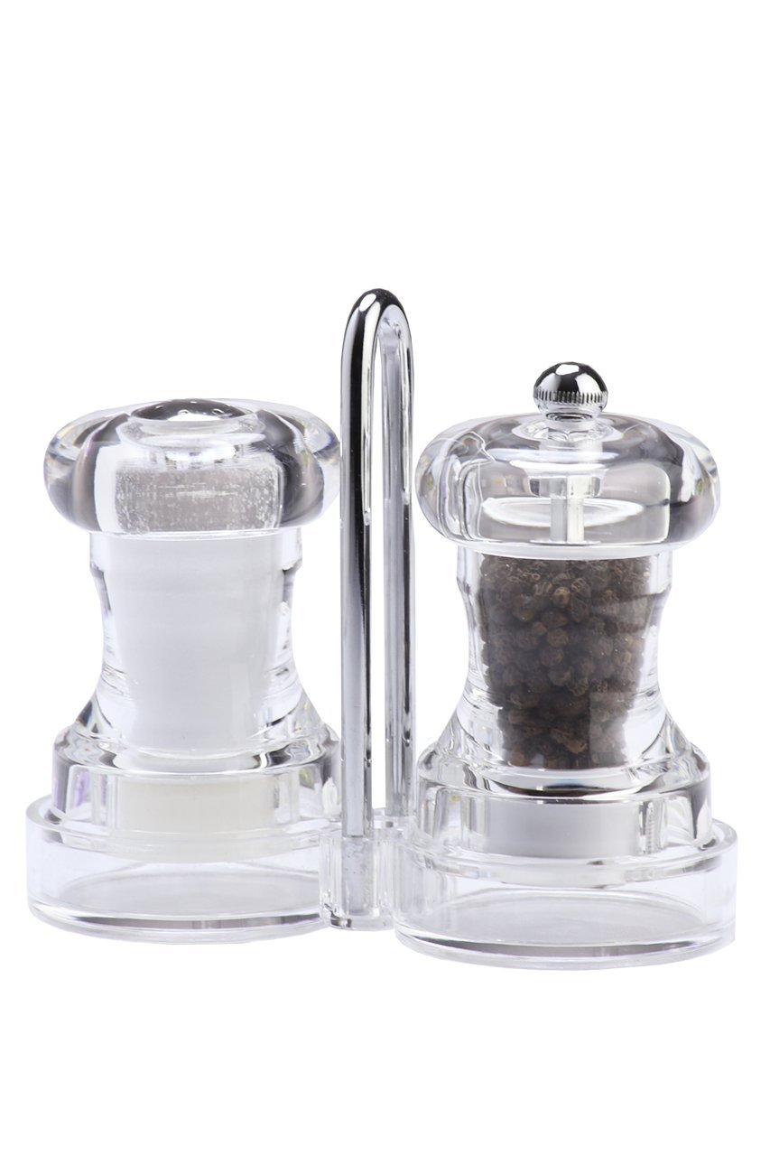 Chef Specialties 01630 Capstan Pepper Mill /& Salt Shaker Set Clear