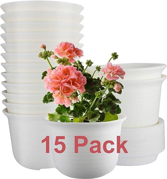 CLICK ON THE LINK 10 X 15CM 1.5 LITRE 6 INCH ROUND GREY  PLASTIC PLANT POTS