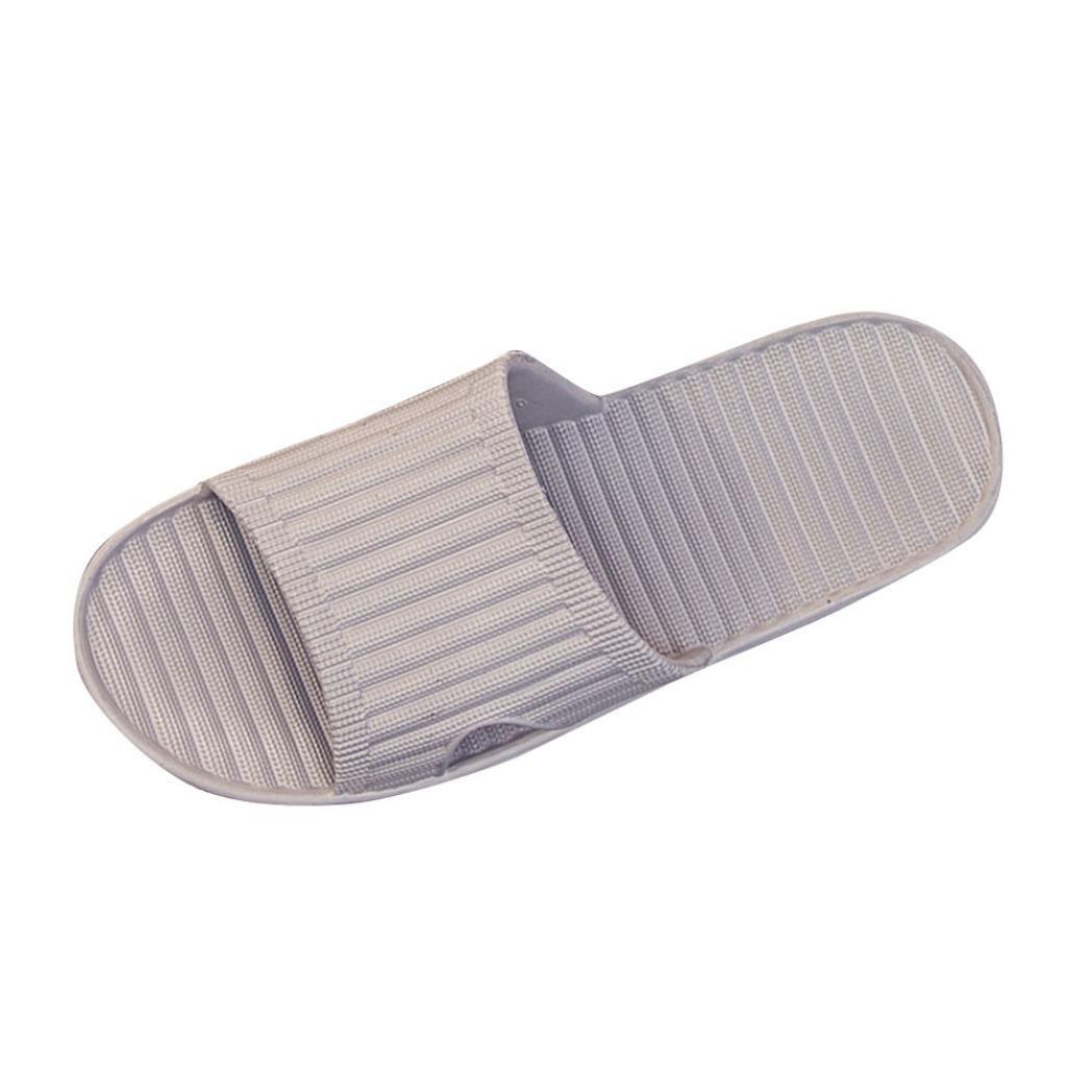 Clearance Men Summer Antiskid Flip Flops Shoes Sandals Durable Male Slipper Flip-Flops Home Beach Slippers Duseedik (GRAY, CN:43)