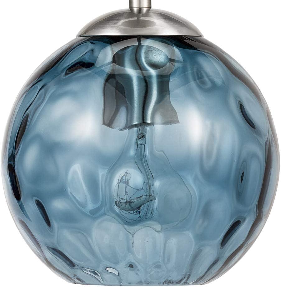 Catalina Lighting Glass Mini Pendant, Blue