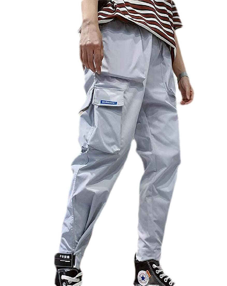 Jofemuho Mens Cargo Pants Slim Sport Multi-Pockets Military Outdoor Jogger Pants