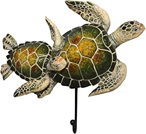 "Comfy Hour 5"" Turtle Coastal Ocean Theme Decorative Wall Hanger"