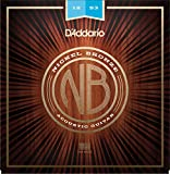D'Addario's premium uncoated acoustic string set that provides a crisp and clear sound to accentuate the unique tone of your guitar. NB1253 delivers the ideal balance of volume, projection and comfortable playability. Nickel Bronze strings are the pr...