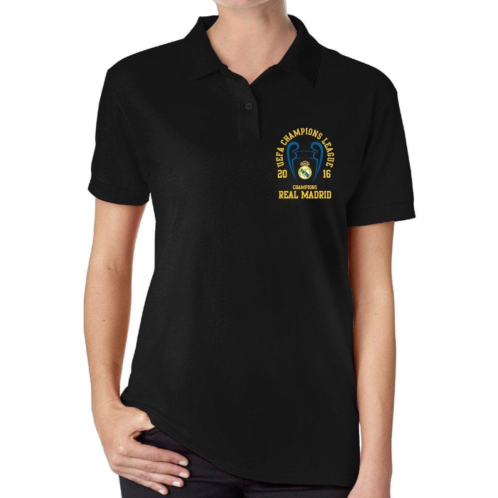 JiSi cinco polo T Shirt para la Mujer - Real Madrid CF: Amazon.es ...