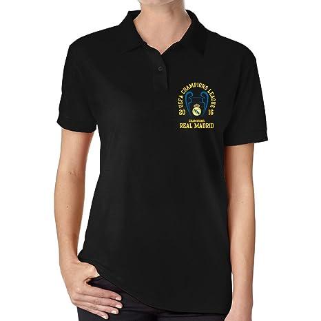 JiSi cinco polo T Shirt para la Mujer - Real Madrid CF  Amazon.es ... 25c487b72f8c6