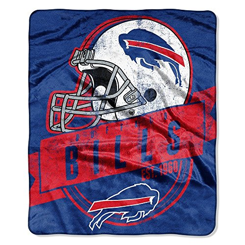 The Northwest Company Officially Licensed NFL Buffalo Bills Grand Stand Plush Raschel Throw Blanket, 50