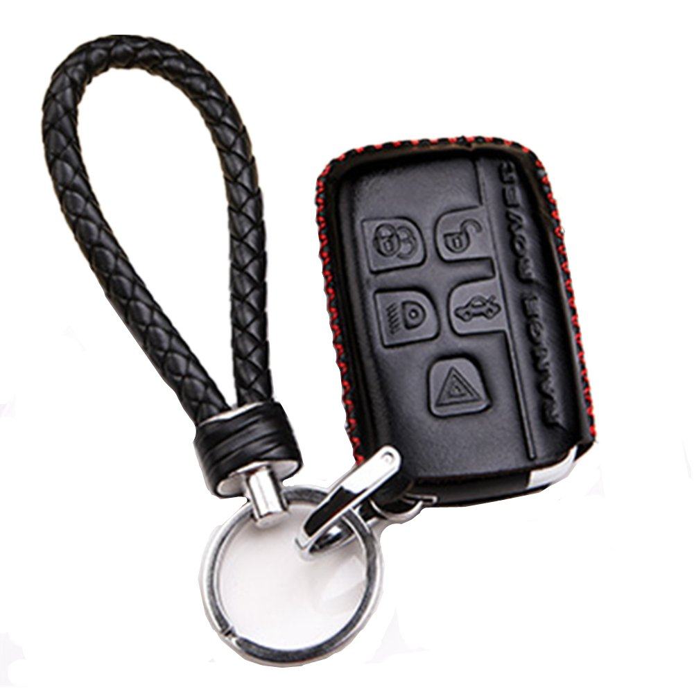 Genuine Leather Car Remote Key Fob Case Holder Cover Shell with