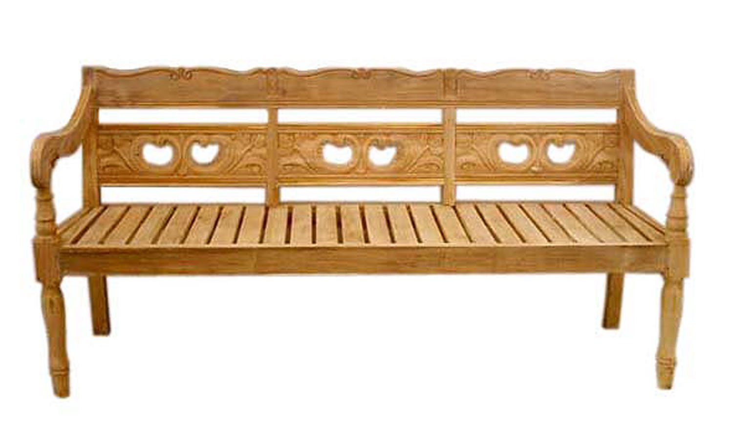 Solid Teak Wood Outdoor Patio Denpasar 3 Seater Bench