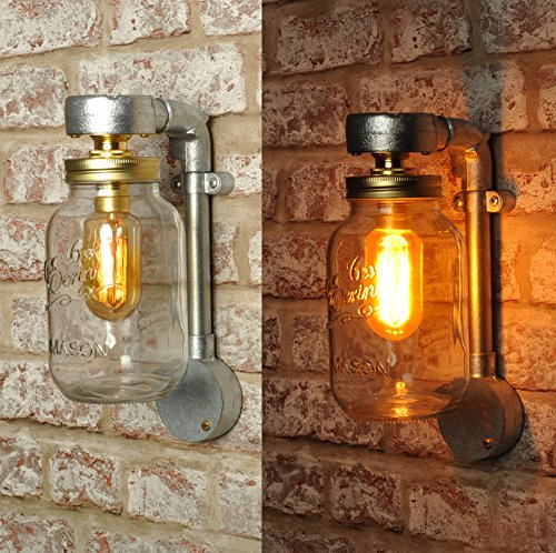 huge discount d95d2 dd5c2 THE JONES Kilner Jar Wall Light New Industrial Style Vintage ...