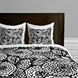 Deny Designs Julia Da Rocha Bouquet Of Flowers Love Duvet Cover, Queen