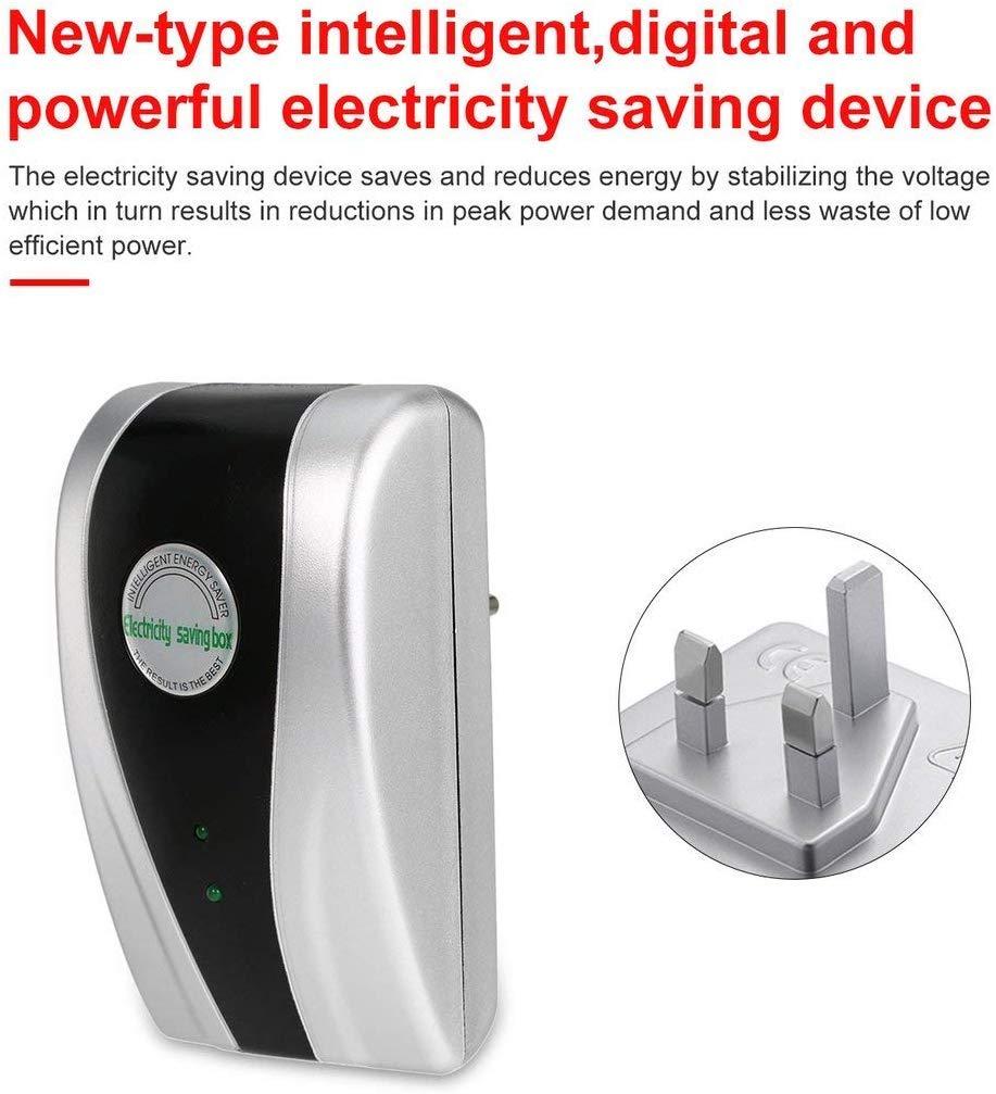 Jszmm SD-001 30KW Energ/ía Inteligente Potente Dispositivo de Ahorro de la Electricidad de Ahorro de 90V-250V-Nuevo Tipo de energ/ía el/éctrica Caja de Ahorro Digital Color : Silver