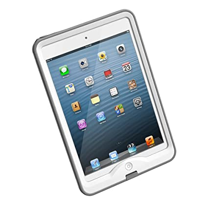 official photos be160 602d9 LifeProof NUUD iPad Mini 1 Waterproof Case - Retail Packaging - WHITE/GREY