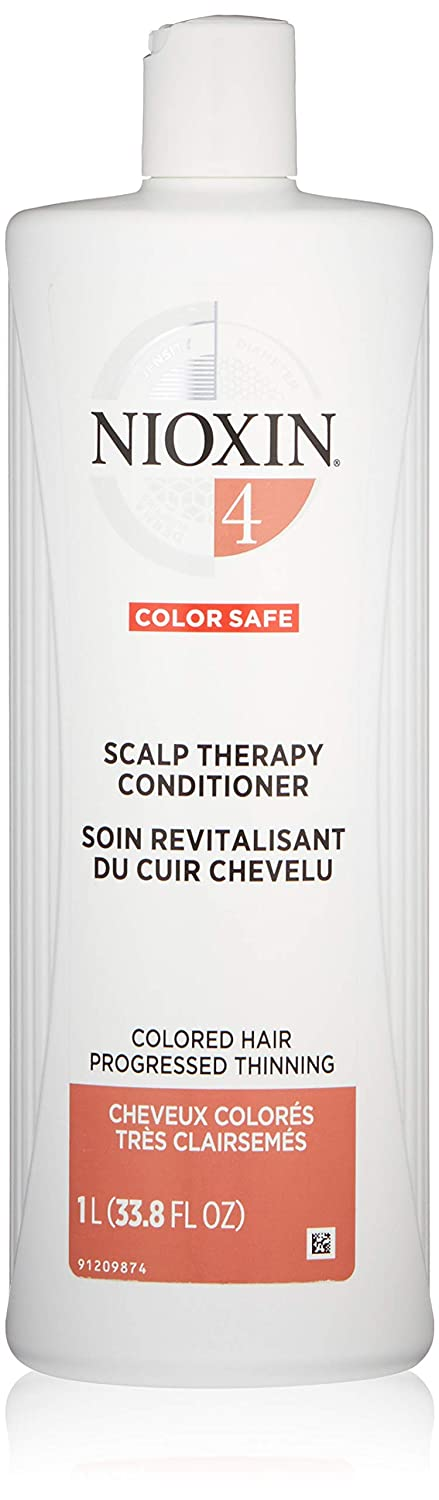 Nioxin Scalp Therapy Conditioner, Hair Care System 4 for Color Treated Hair with Progressed Thinning