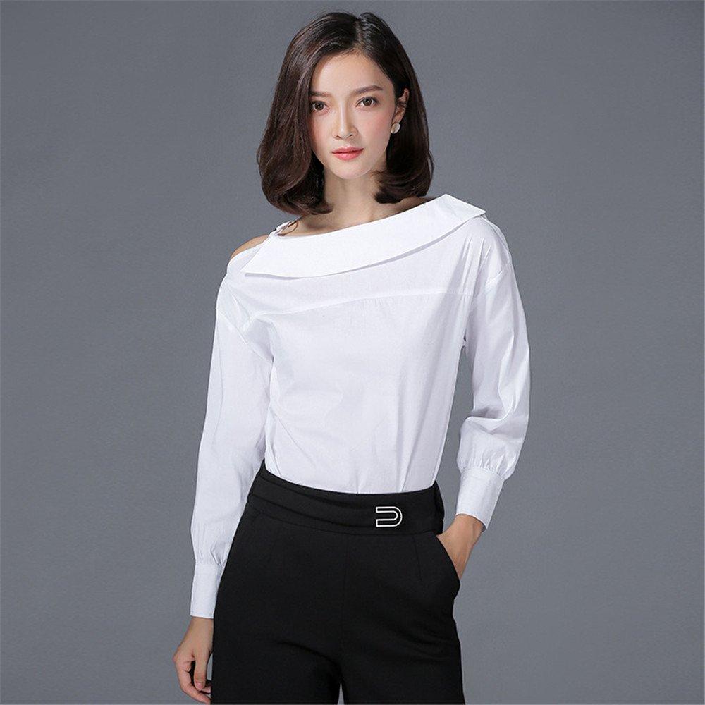 lixus Une Chemise, Une Chemise, Une Chemise, Un Mot Collier et Une Chemise en Coton,White,XL