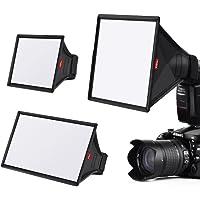 TYCKA Flash Softbox difusor Kit (Universal, Plegable) Incluyen 15 x13cm, 23 x 18cm, 33 x 20cm para Nikon, Canon, Sony…