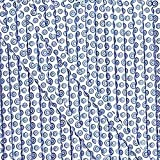 Royal Blue & White Sassy Straws Blueberry Candy Powder Filled Mini Straws 50 Count
