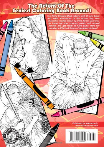 The Kinky Coloring Book 2 James Courtney 9780985899912 Books