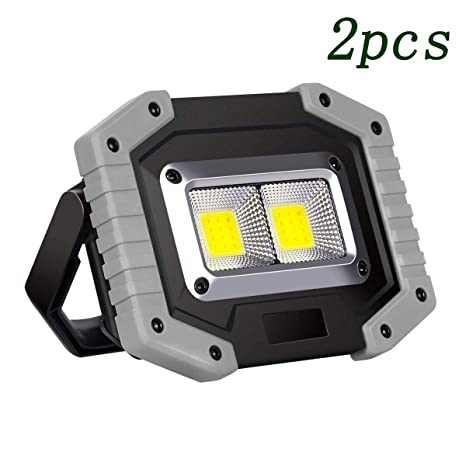 FJJLOVE Proyector LED Recargable, portátil 30W LED ...