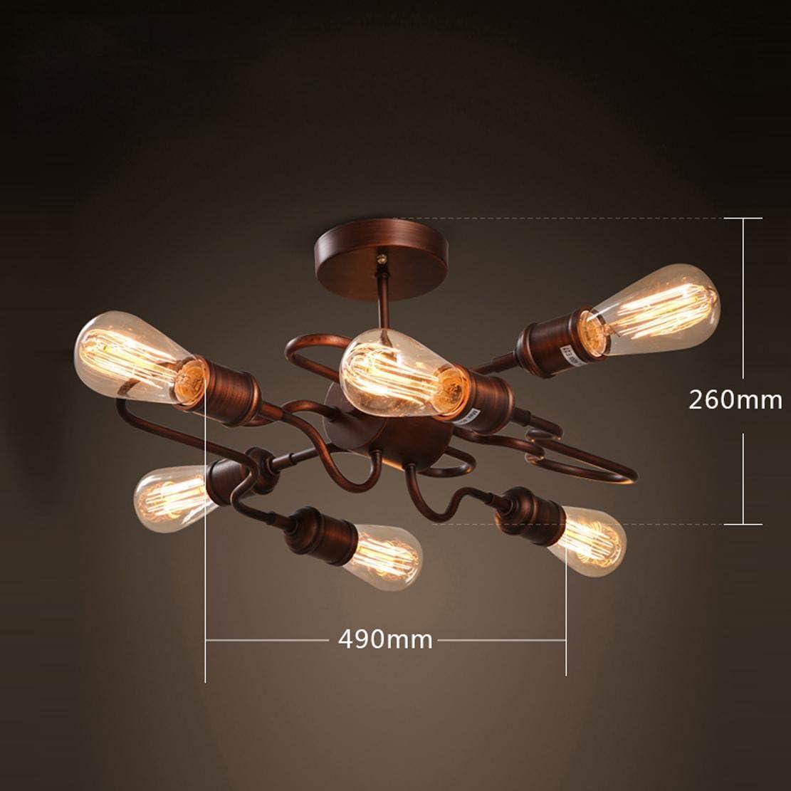 AIKE 6X E27 Design Deckenleuchte Loft Retro Deckenlampe