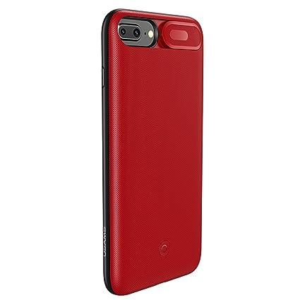 a268e920891 Brandtrendy Funda Bateria para iPhone 8/7/6 Plus (Rojo): Amazon.com ...