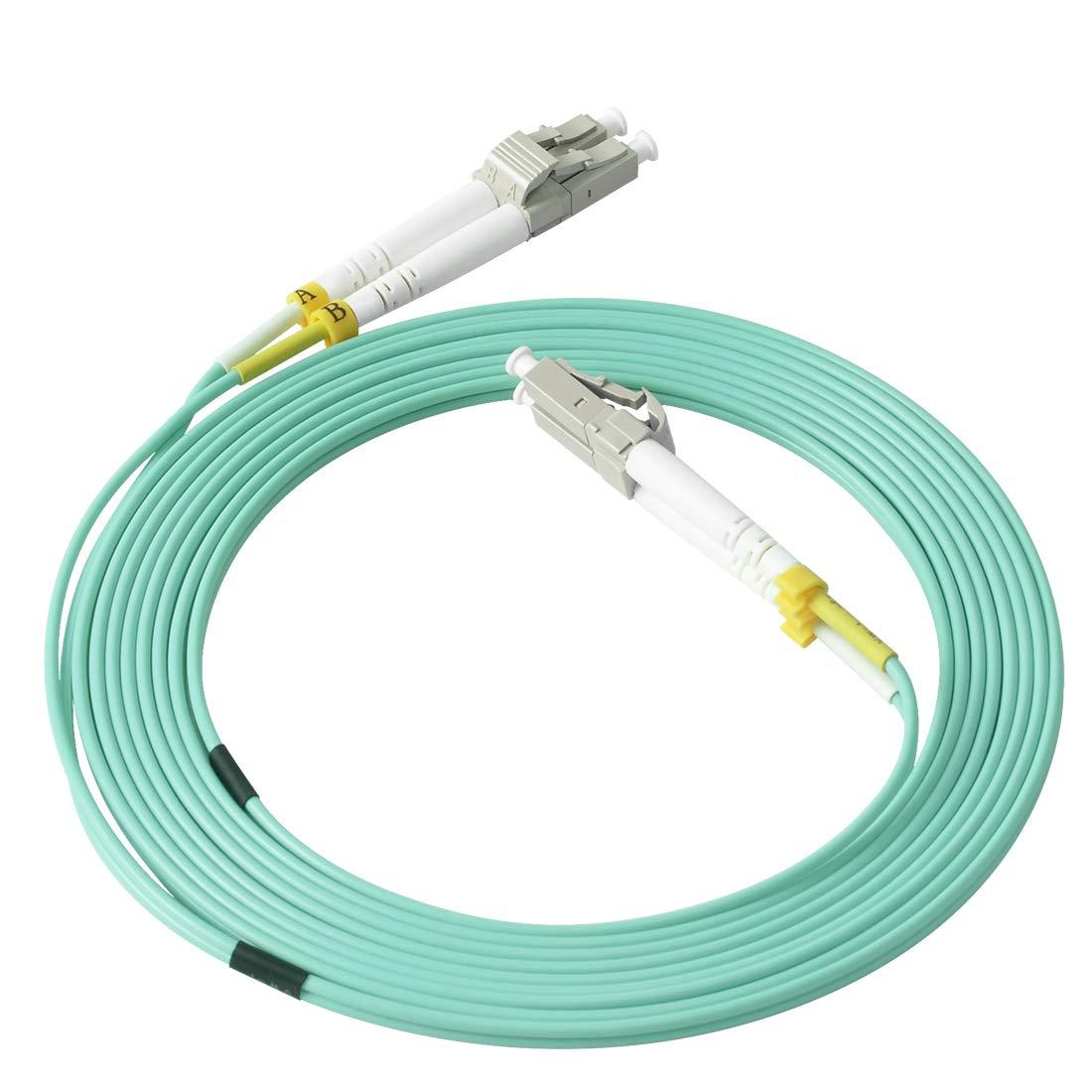 2 Cables Fibra Optica OM4 3mt LC a LC DUPLEX 50/125 Vandes