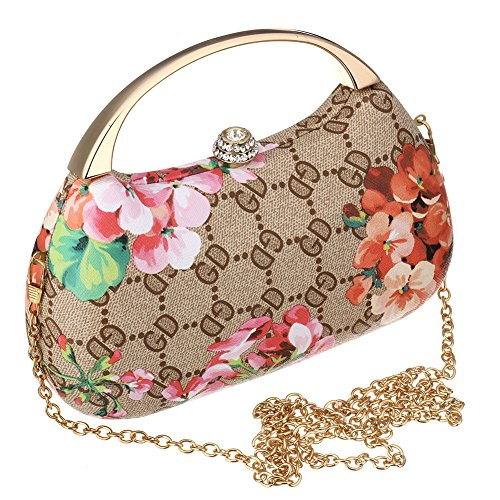 SSMK Evening Bag - Cartera de mano para mujer marrón