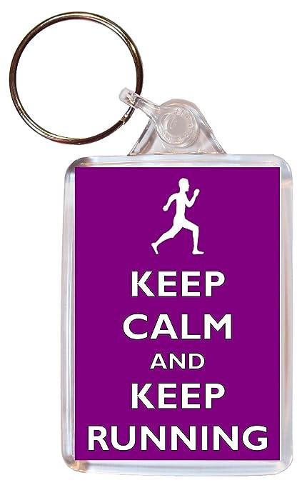 Keep Calm And Love running - doble cara llavero grande ...