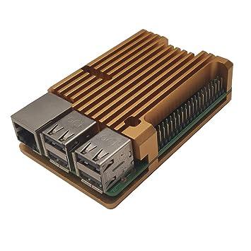 ZkeeShop Caja de Aluminio Compatible para Raspberry Pi 3 Model B ...