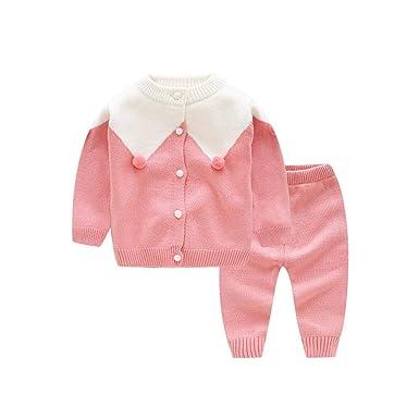 ZYFBN - Conjunto de Jersey de Punto para bebé y niña Rosa 100 cm ...