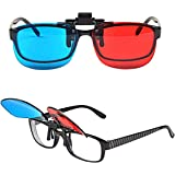 Red-blue Cyan Anaglyph 3D Clip-on Glasses 3D movie game