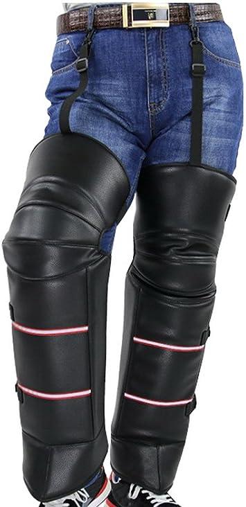 in Pelle PU Ginocchiere per Moto Cicony Coprono i Scaldamuscoli Caldi per Fare Moto in Inverno Antivento