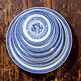 LHJY Blue And White Porcelain Plates Dishes Plates Plates Plates Plates Cutlery And Old Nostalgic Dishes 6 Inch Dragon Pattern