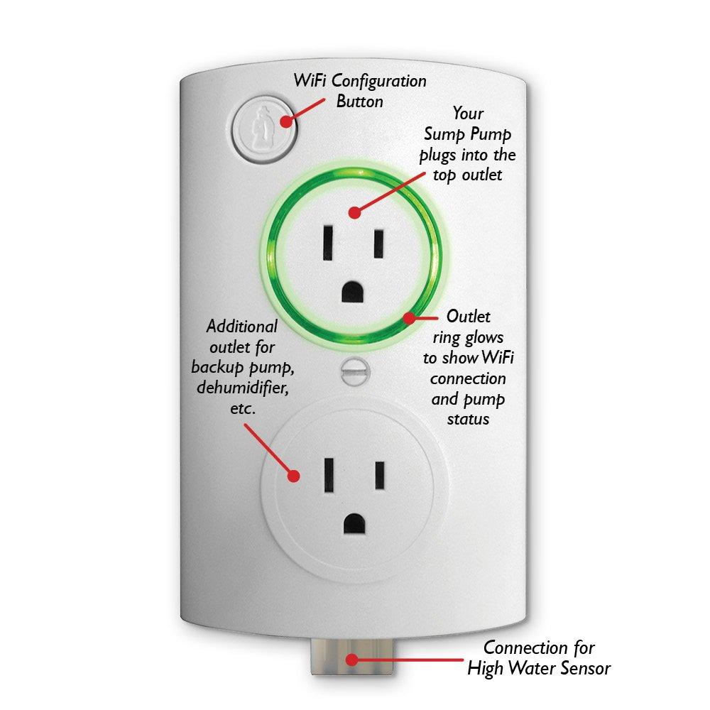 PumpSpy PSO1000 Wi-Fi Sump Pump Smart Outlet - - Amazon.com