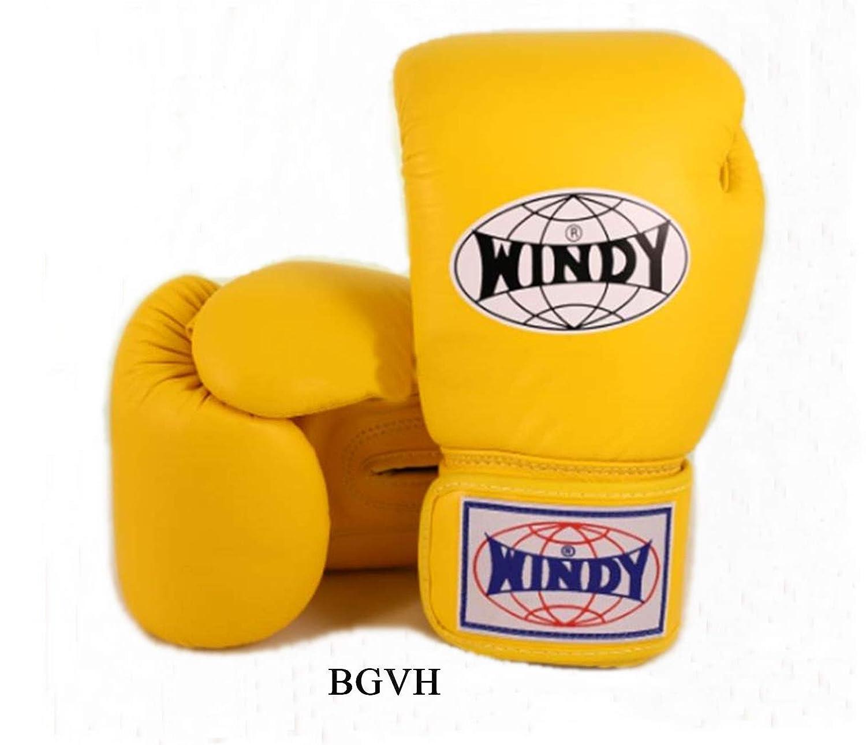 WINDY ボクシンググローブ BGVH 8オンス イエロー スパーリング トレーニンググローブ ムエタイ キックボクシング MMA (黄色、8オンス) B07KWDZ7L6