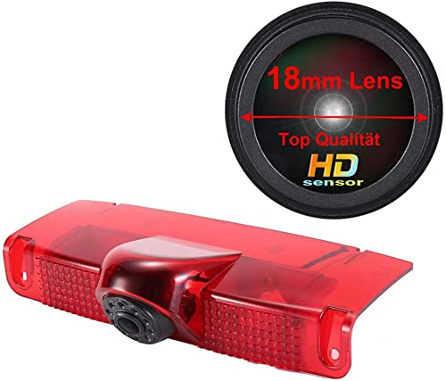 Navinio Super HD 1280720 Pixels Car Third Roof Top Mount Brake Lamp Camera Brake Light Rear View Backup Camera for Chevrolet Express GMC Savana Vans Exporer Vans Cargo Reverse Parking Camera