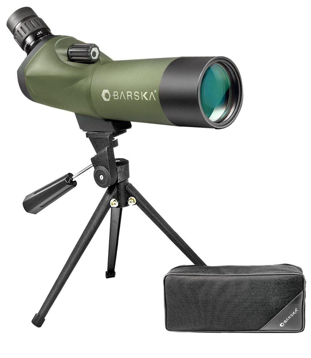 BARSKA Blackhawk 18-36x50 Waterproof Angled Spotting Scope w/ Tripod & Soft Carry Case by BARSKA